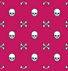 Skull and bones seamless pattern vector