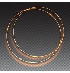 Sparkling golden glow rings vector