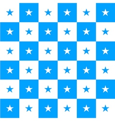 Star Blue White Chess Board Background vector image vector image
