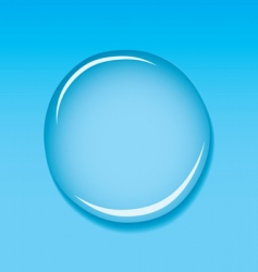 water droplet blue vector image vector image