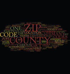 Zip code county lookup text background word cloud vector