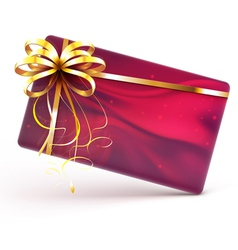 Decorated gift card vector