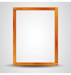 Blank wooden frame vector