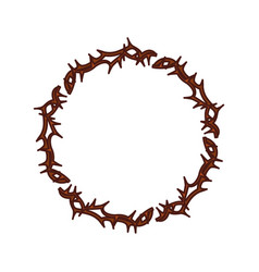 Crown of thorns icon vector