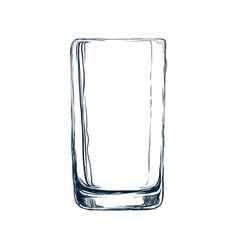Empty glass draw vector