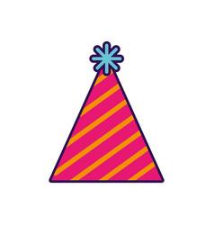 Cute party hat cartoon vector