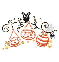 Halloween owl vector