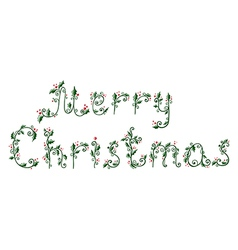 Hand drawn of ornamental christmas text vector image