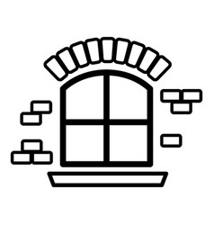 small window frame icon simple black style vector image