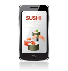 Sushi advertising vector
