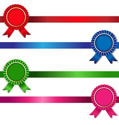 Color rosette set vector