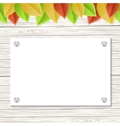 leaves template vector image