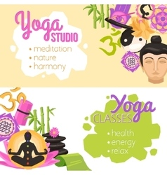 Yoga banners horizontal vector