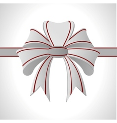 Abstract white bow vector