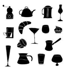Objects and foods vector