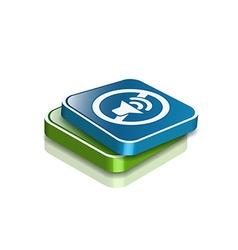 Speaker web icon vector