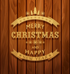 background with greeting inscription Christmas bac vector image