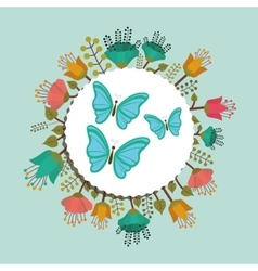 Beautiful butterflies design vector