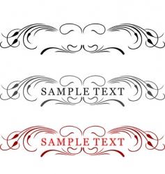 Elegance text frame vector