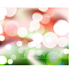 Abstract bokeh vision colorful background design vector