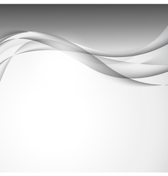 Abstract wavy design background vector image vector image