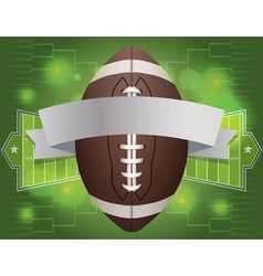 American fotball tournament banner vector