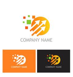 arrow digital technology logo vector image