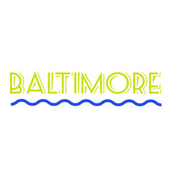 Baltimore sticker stamp vector