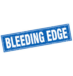 Bleeding edge square stamp vector