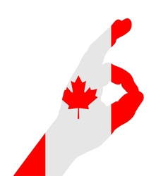 Canadian finger signal vector image vector image