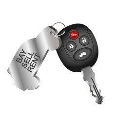 Car key symbol for car rental vector