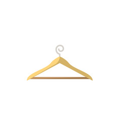 clothes hanger isolated icon in flat style vector image vector image