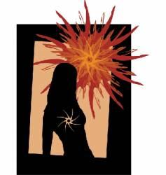 dark sun vector image vector image