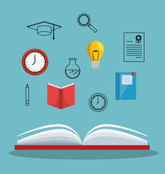 Education concept elements icon vector
