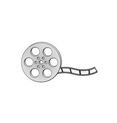 filmstrip and reel vector image vector image
