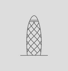 Gherkin building vector