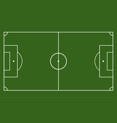 green field with soccer games strategy football vector image vector image