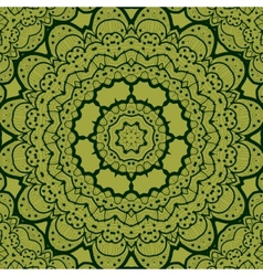 Green seamless mandala Vinatge element Tribal art vector image vector image