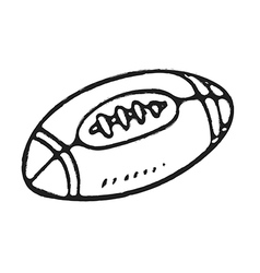 Hand draw rugby ball vector image vector image
