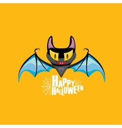 Happy halloween background with bat vector