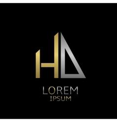 Hd letters logo vector