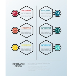 Infographic hexagon template vector image
