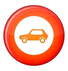 Only motor vehicles allowed road sign icon vector