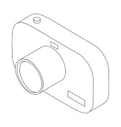 Photo camera icon isometric 3d style vector