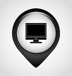 Pointer office icon vector
