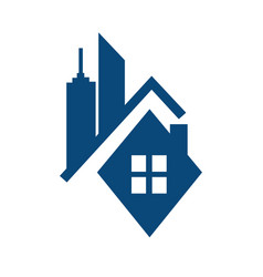 Real estate logo concept vector