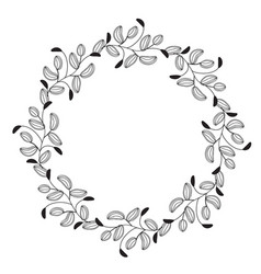 Round flourish vintage decorative whorls frame vector
