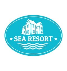 Seaside real estate logo template vector image