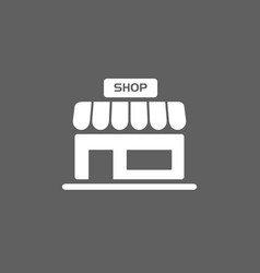 Shop icon on a dark background vector