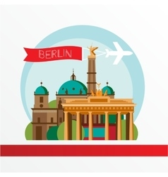 silhouette of Berlin Germany City skyline vector image vector image